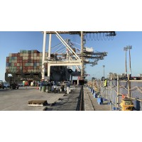Crane Rail Grout Job Site